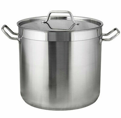 FDG54526 RPLD Stockpots Quality 5 Stainless Steel Deep with Reinforced Pourin...