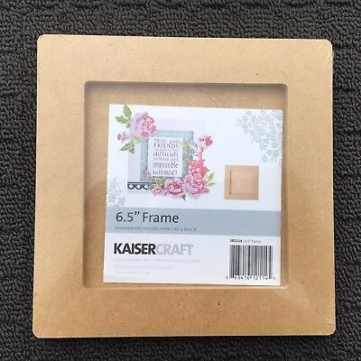 "KAISER CRAFT ""Brown"" DIY Wooden Decorative Photo Frame (165x165mm) 6.5"" **NEW**"