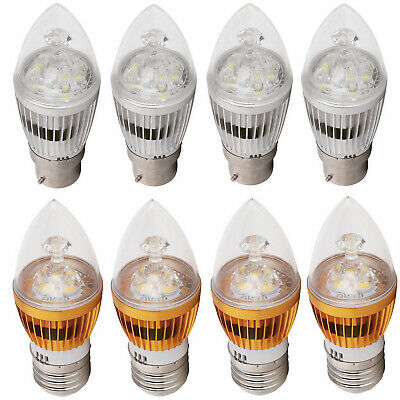 B22 BC E27 ES Dimmable LED Chandelier Candle Lights Bulbs 6W 8W 10W Lamp Bright
