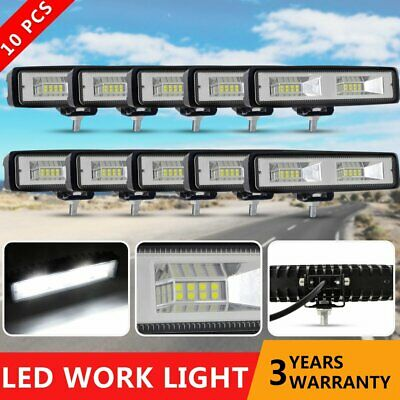 10 x 6INCH 60W CREE LED WORK LIGHT BAR Flood for OFFROAD 4WD SUV ATV LAMP 12V 6'