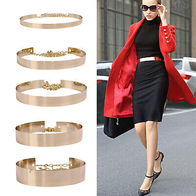 Waistband Plate Hot Chains Waist Vogue Metal Belt Mirror Wide Gold Band Lady Y