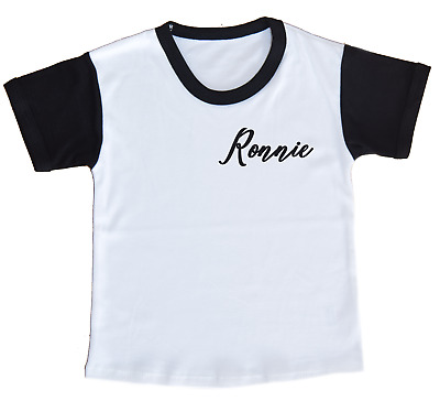 CLEARANCE Personalised Initial Toddler T-shirt Contrast Top Girls Boys