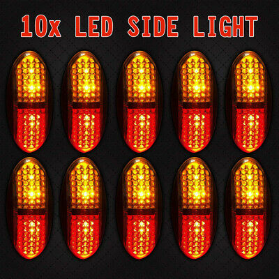 10X 10V-30V Red Amber Clearance Lights Side Markers Led Trailer Truck Lorry Lamp