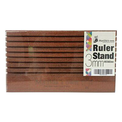 Ruler Stand 3mm Slotted Wooden Matidas Own Quilting Sewing Craft DIY