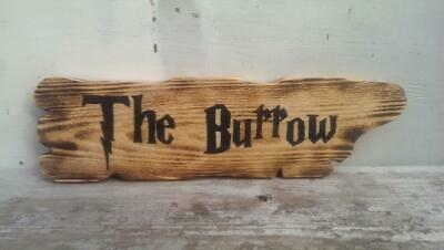 Harry Potter, Themed, The Burrow, Reclaimed, Rustic, Barn, Wood, Sign