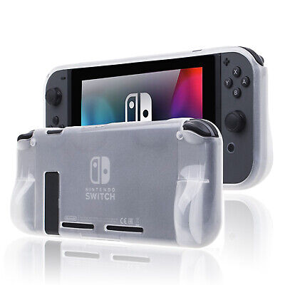 Semi-Transparent Cover Case for Nintendo Switch with/without Caps and Glass Film