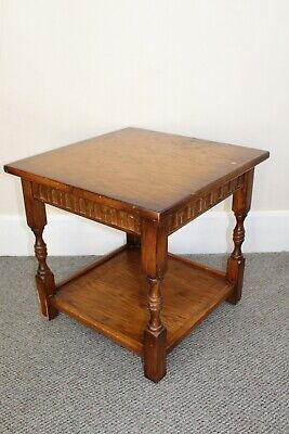 Vintage Square Wooden Side Table - Solid - Upcycling Project - Bargain