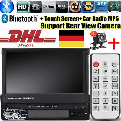 """1 Din Autoradio 7"""" MP5 Player USB FM AUX IOS & Android Mirror Link Touch Screen"""