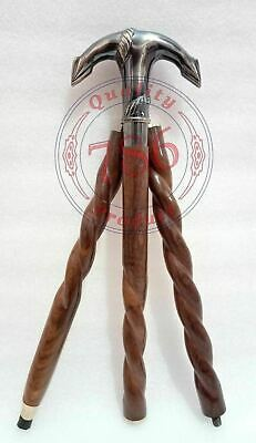 Nautical Anchor Solid Brass Walking Stick in 3 Fold Cane Christmas Gifting Item