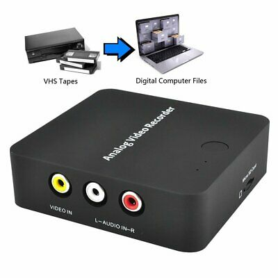 AV Video Capture Card Recorder Tapes to Digital Format Converter For VHS Hi8 DVR