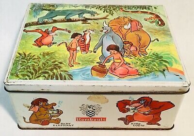 Rombouts coffee vintage tin box THE JUNGLE BOOK 1965 DISNEY productions