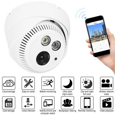 Wireless WIFI 1080P/720P Full HD CCTV Dome Camera Night Vision Security Camera