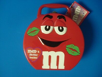 RED M&M's Valentines Lunch Box Tin Galerie 2003
