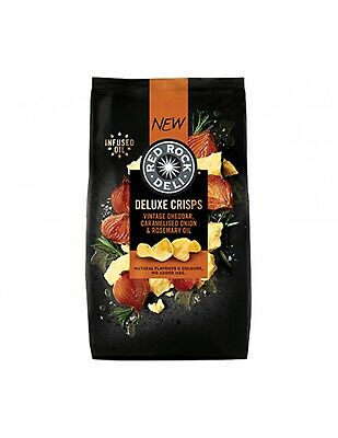 Red Rock Deluxe Cheddar Cebolla Rose 135g