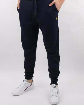 Lyle And Scott Slim Fit Sweat Pants in Navy Blue - tracksuit bottoms, joggers