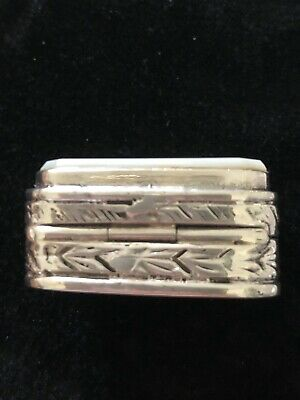 Mother Of Pearl Pill Box