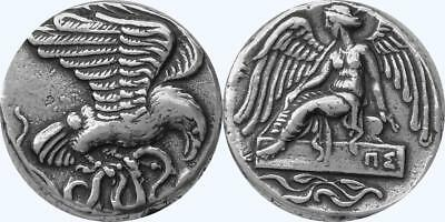 Nike & Eagle Goddess of Victory Very Fast runner Greek Coin greek Mythology 9-S
