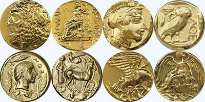 Zeus Nike Athena Apollo 4 Famous Greek Coins Percy Jackson Fans (SET2GREEK-G)