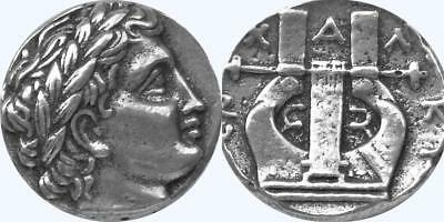 Apollo and Lyre, Son of Zeus, God of the Sun Greek Coin greek Mythology (30-S)