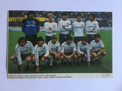 Autografi originali GIOVANNI CERVONE+CLAUDIO TESTONI-CFC Genoa 84/85-IN PERSON