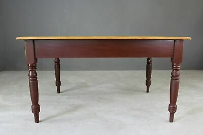 Antique Victorian Rustic Pine Kitchen Table