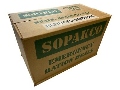 Case /14 SOPAKCO MRE Emergency Ready to Eat 11/17 Inspect Date REDUCED SODIUM