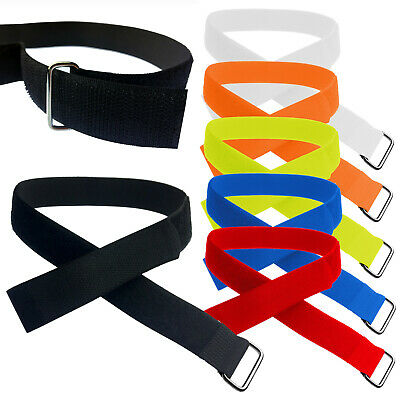 25mm Adjustable Ring Straps, Cable Ties with Metal Buckle, VELCRO® Brand Tape