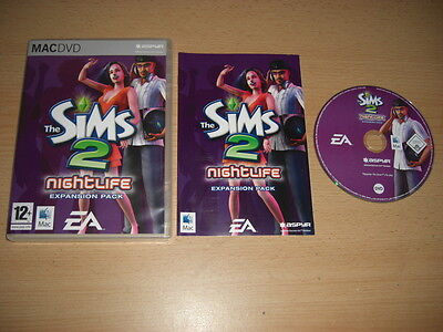 THE SIMS 2 NIGHTLIFE Add-On Expansion Pack Apple MAC DVD Rom Simms Sims2