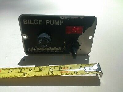 RULE BILGE PUMP 3 WAY Auto//Off//Manual LIGHTED Control SWITCH Deluxe Panel Rul 41