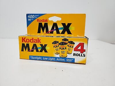 Kodak Max 400 35mm 96 Exposure Color Print Film 4 Pack EXPIRED 09/2001 New