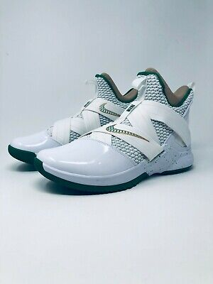 half off bc39f 13a81 NIKE LEBRON SOLDIER XII 12 SVSM Home White Green Gold AO2609 ...