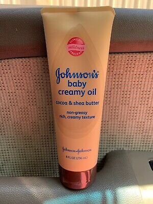Johnson's Baby Creamy Oil Cocoa and Shea Butter 8 Ounce (Discontinued)