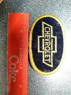 """Vintage Chevrolet Black & Gold Sew/Iron On Patch 3.5"""" Car Truck Chevy Car Jacket"""