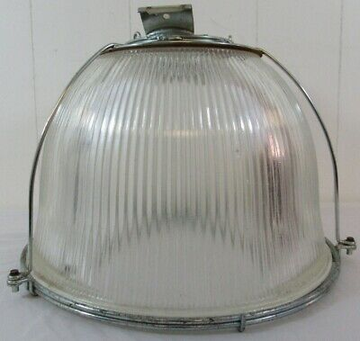 Holophane Prismalume Vintage Glass Dome Light Fixture