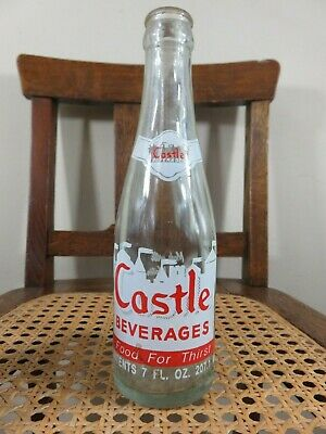 Vintage Castle Beverage Soda Pop Bottle 7 Oz Acl  Ansonia Connecticut