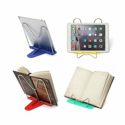 Adjustable Angle Metal Book Stand Foldable Portable Fold Document Reading Holder
