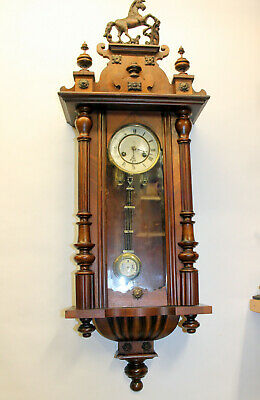 Antique Wall Clock Chime Clock Regulator 19th century *Made in Germany -JUNGHANS