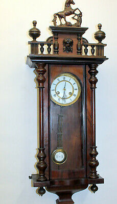 *Antique Wall Clock Chime Clock Regulator 19th century *