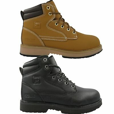 0e1e4bea90 MENS FILA LANDING STEEL Steel Toe Rugged Work Boots Shoes Wheat ...