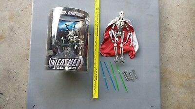 """Star Wars 12"""" General Grievous Action Figure & Unleashed MIP  Free US Shipping"""