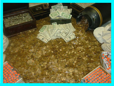 HUGE ESTATE SALE 1800s+ OLD US COINS GUARANTEED GOLD + SILVER ***UNSEARCHED***