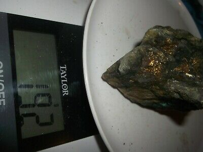 Gold, silver, copper, 192  grams,ore high grade .