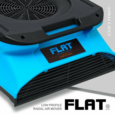 Contair® FLAT Low Profile Slim Radial Air Mover Carpet Blower Fan in Blue Color