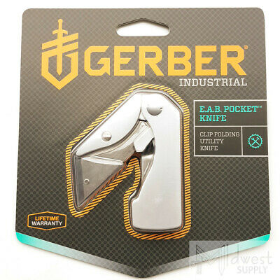 Gerber EAB Industrial Utility Folding Knife Replaceable Blade Pocket Money Clip