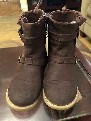 EUC Old Navy Toddler Girls Brown Boot With Buckle  Size 8