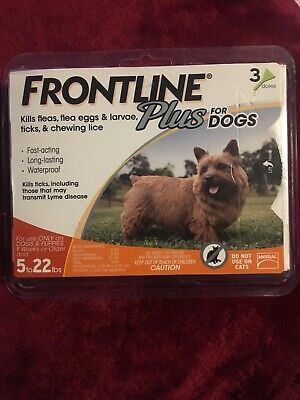 FRONTLINE PLUS for DOGS 5 - 22. NEW