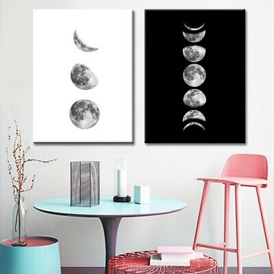 Nordic Poster Living Moon-phases Canvas Painting Abstract Wall Art Home Decor CA