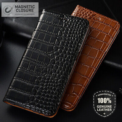 Crocodile Real Leather Cover Flip Wallet Case For iPhone XR X XS Max 8 7 6 Plus