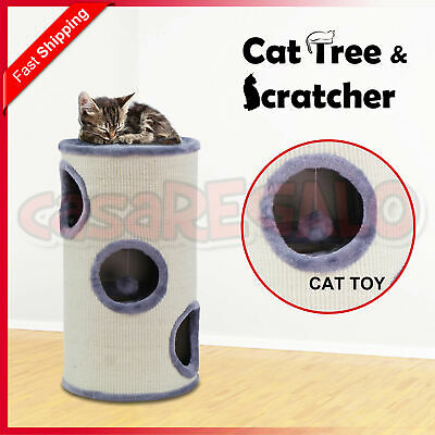 Cat Scratching Post Tree Gym House Condo Furniture Scratcher Pole Toy Gray