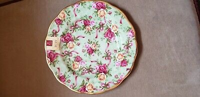 Old Country Roses GREEN CHINTZ Salad Plate Royal Albert Ruby Celebration China